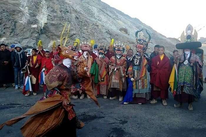 Locals in Ladakh celebrating Gustor in high spirits