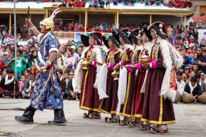 Ladakhis celebrating the harvest season