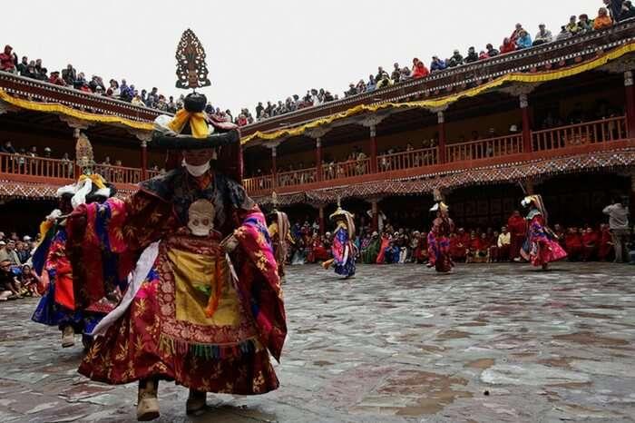 Colorful celebrations of Hemis Tsechu festival in Leh