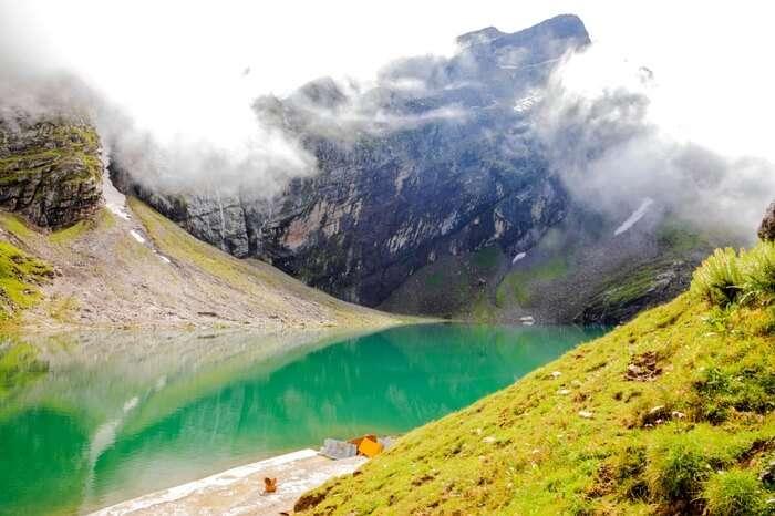 The mystic Hemkund lake near Hemkund Sahib