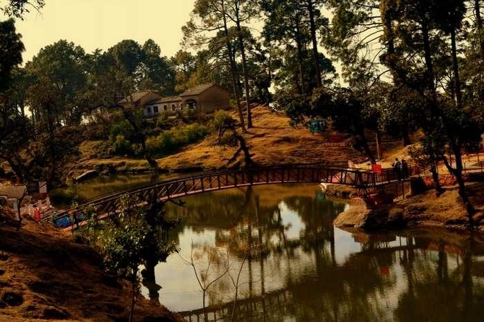 The serene Bhulla Tal lake in Lansdowne