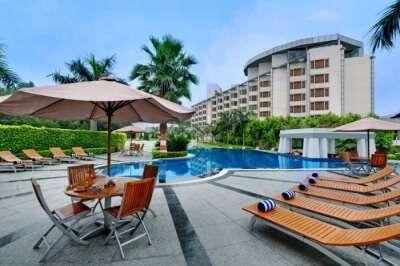 Pool view of Ramada JHV Hotel in Varanasi