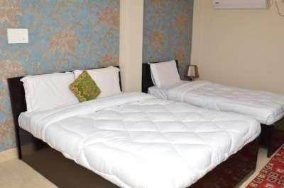 Interiors of a room in Hotel Park Inn in Varanasi