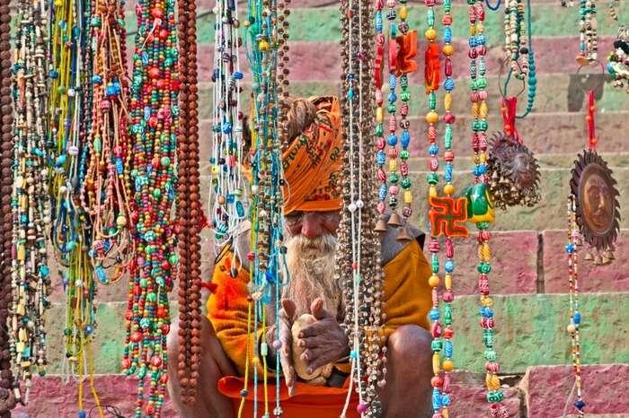 A saint in Chowk and Vishwanath Gali