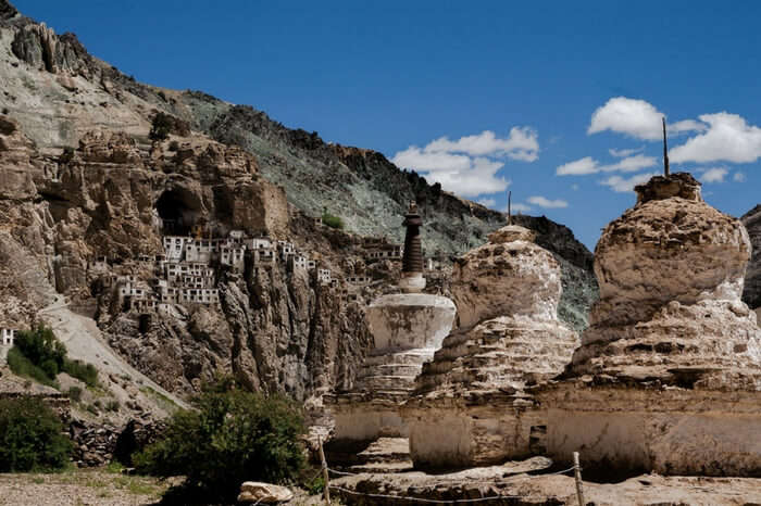 Phugtal monastery in Ladakh nestled in cliff