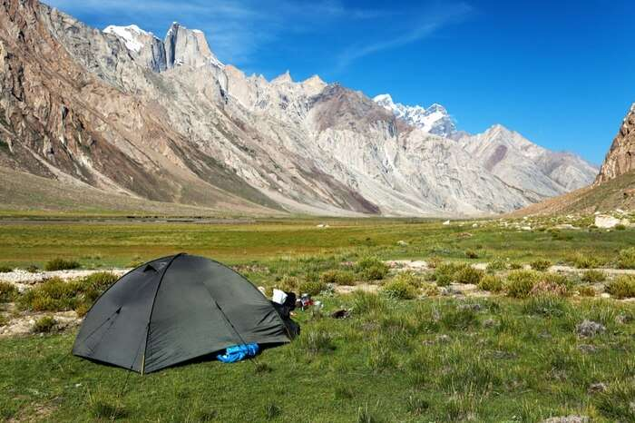 Camping tent in the Zanskar Valley