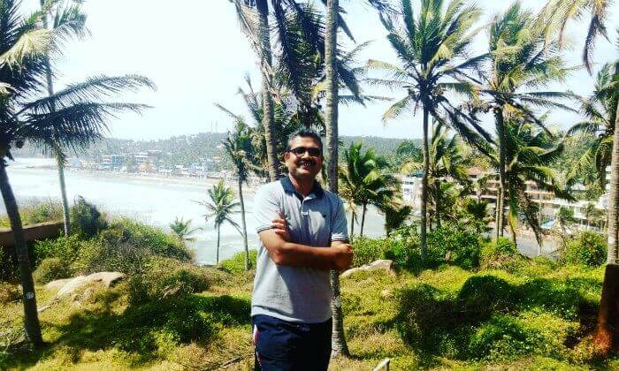 Anuj at the beaches of Kovalam