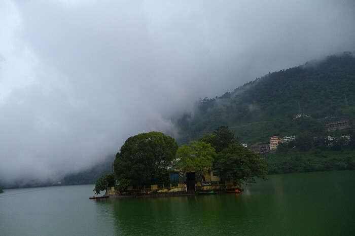 bhimtal lake and island