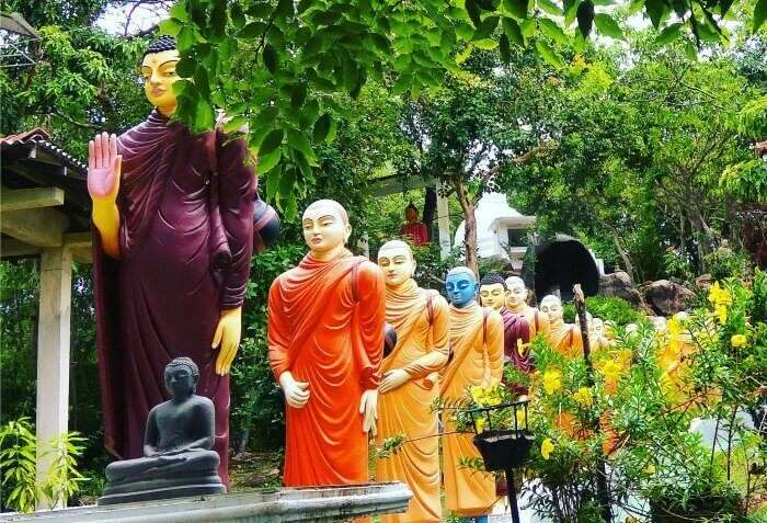 A peaceful Buddhist monastery on an island in Bentota