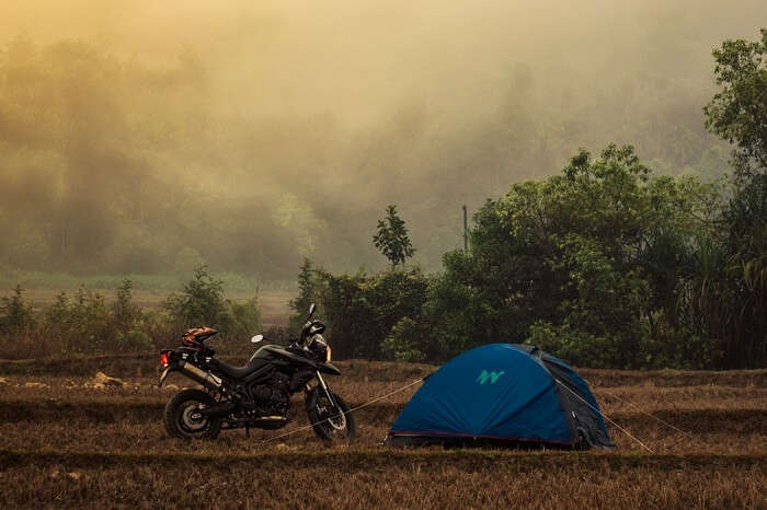A bike ride from Bangalore can take the travelers to the campsite in Sakleshpur