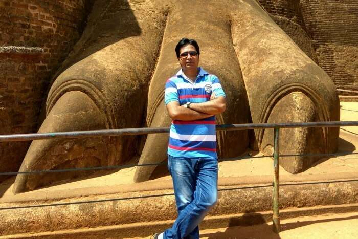 Dhananjaya at Lion Rock in Sigiriya, Sri Lanka
