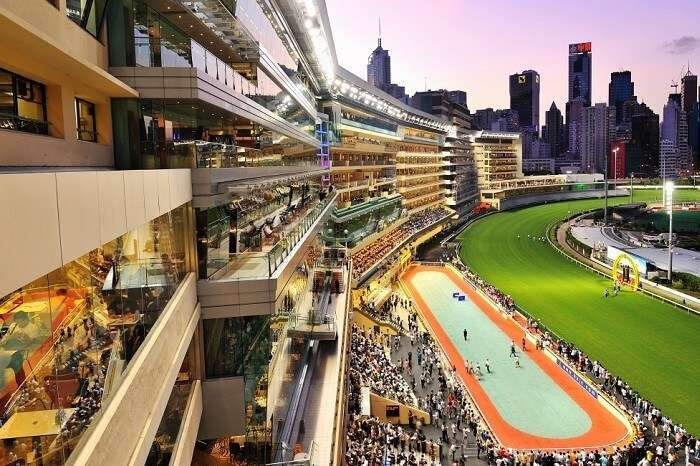 The highly popular Happy Valley Race Course in Hong Kong
