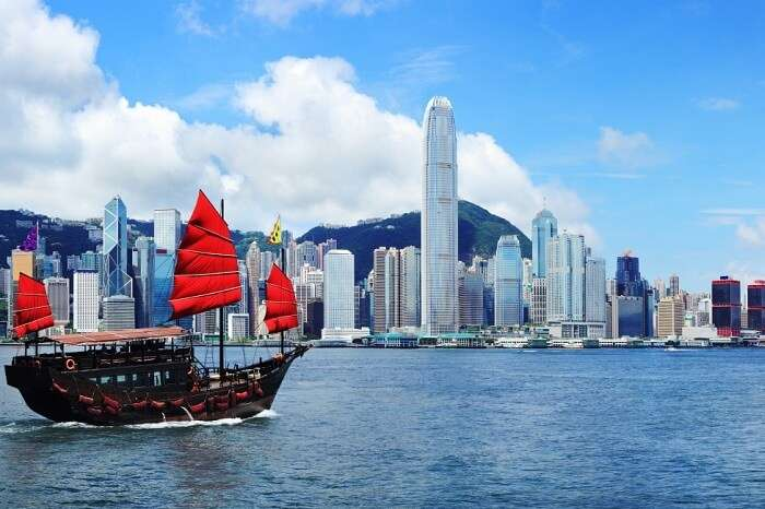 Riding the junk boat is one of the best things to do in Hong Kong