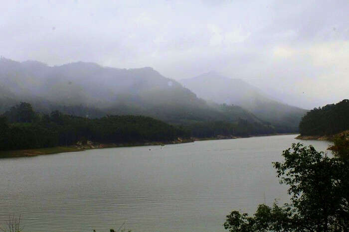 Scenic from Matupetty dam in Kerala