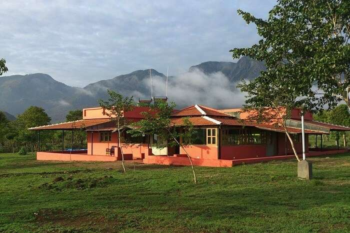 A beautiful shot of the Jungle Trailz camping resort in Masinagudi