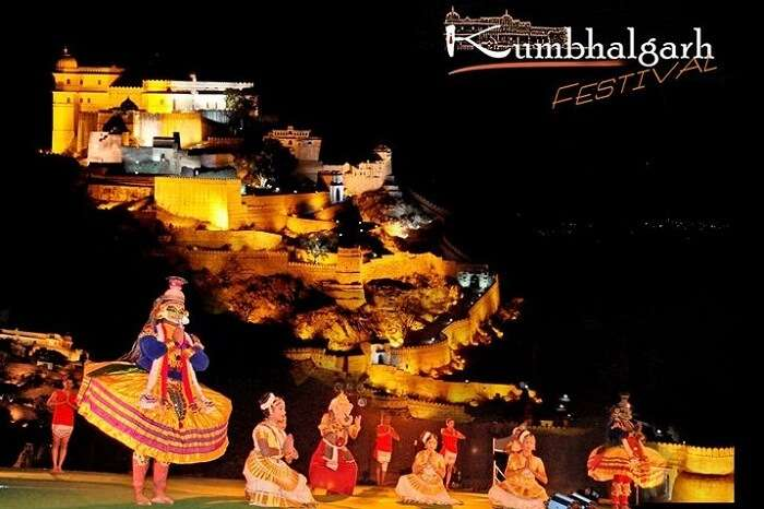 A promotional poster of the Kumbhalgarh Festival in Rajasthan