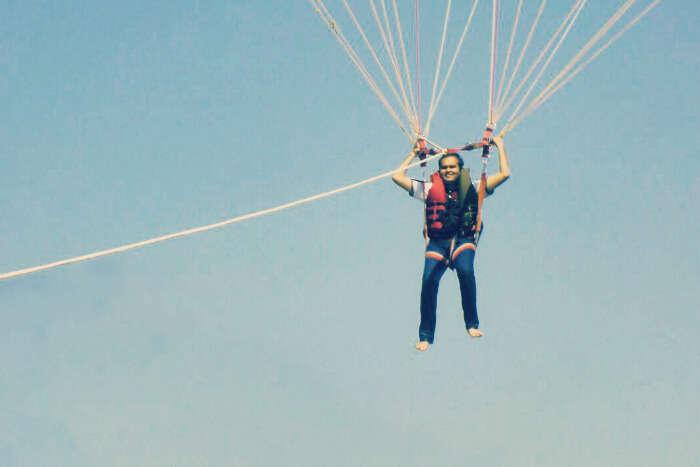 Prasham parasailing in Goa