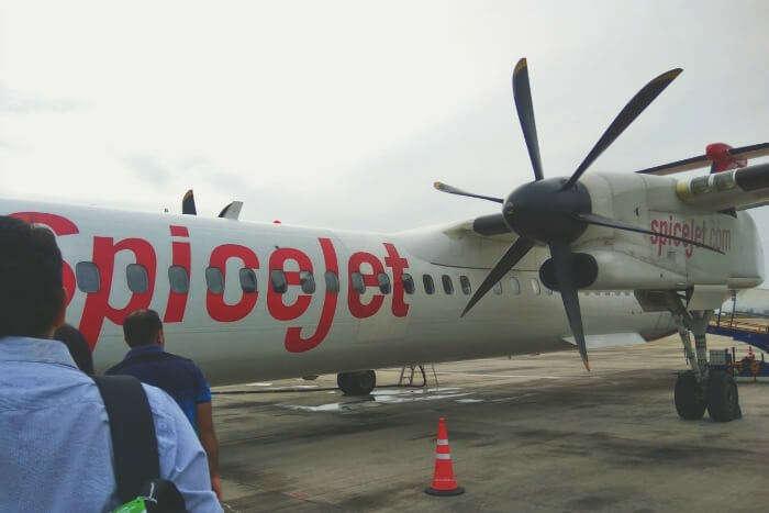 Boarding our flight for sri lanka