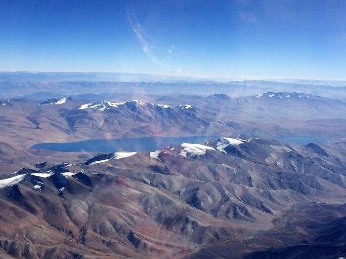 Aerial View of Tso Moriri