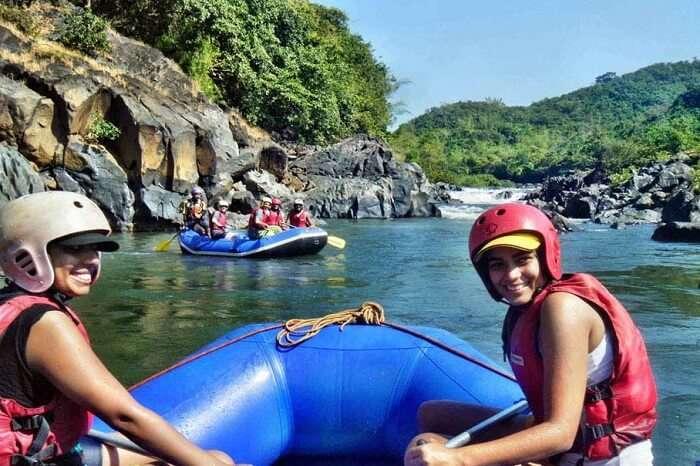Numerous travelers indulge in rafting organised by Atlantis water sports