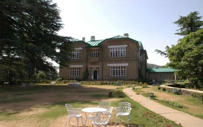 Front view of the Chail Palace