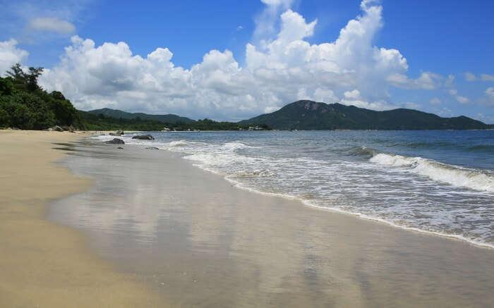 Sea waves in Cheung Sha Beach