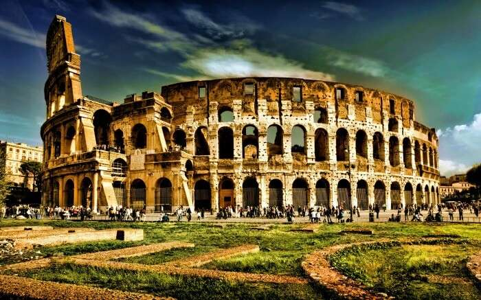 View of Colosseum which is one of the most popular places to see in Rome