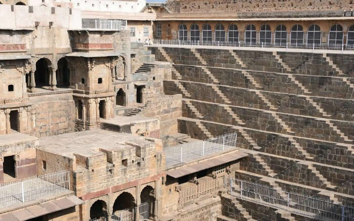 Giant step well of Abhaneri in Dausa