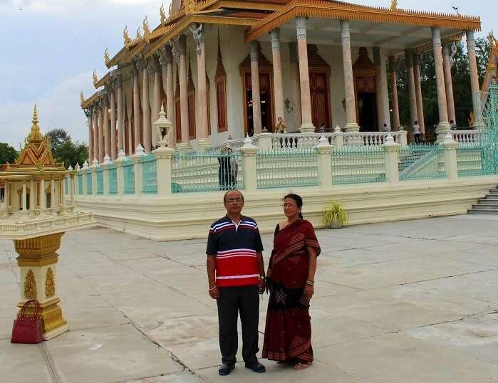 Avijits parents at the Royal Palace Phnom Penh