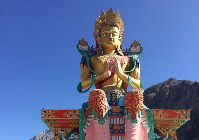 Beautiful Diskit Monastery in Ladakh