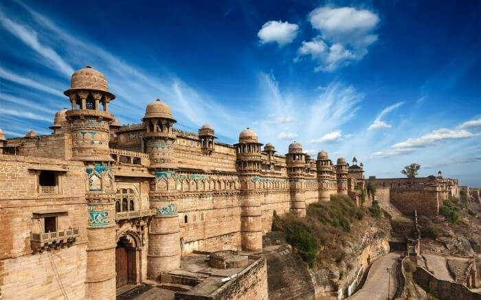 View of Gwalior Fort from outside
