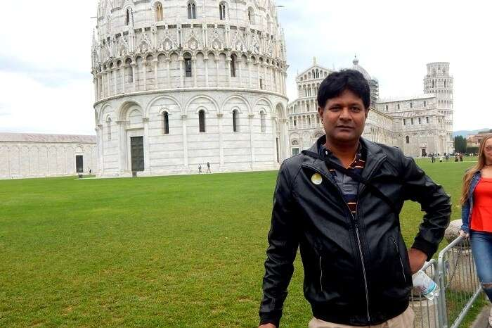 Sabyasachi visiting the city of Pisa