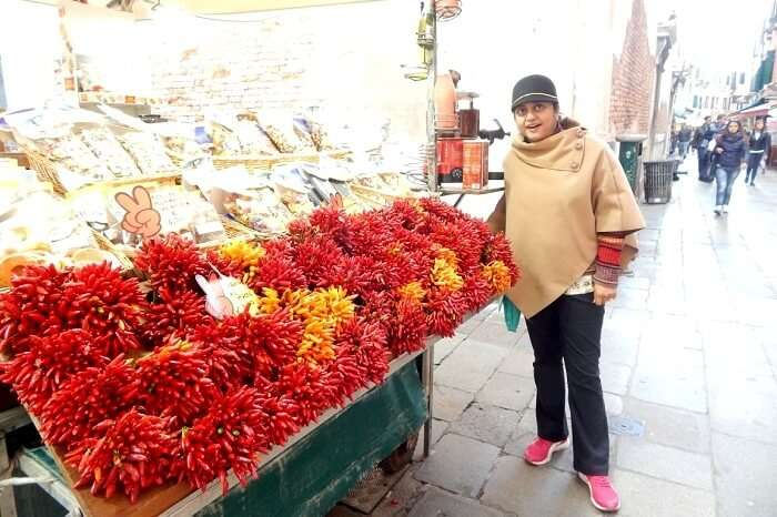 Red Chillis on sale in Venice