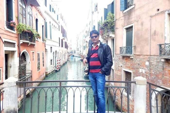 Bridge over the canals in Venice