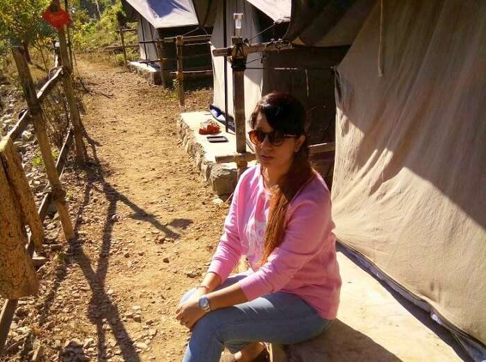 Tanisha at the camp in Lansdowne