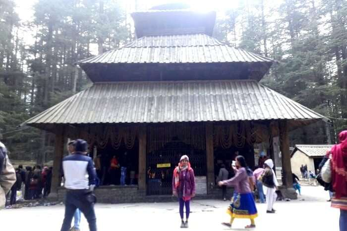 Manali temples in the forest