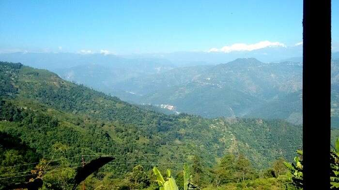 Scenic Darjeeling on a clear day