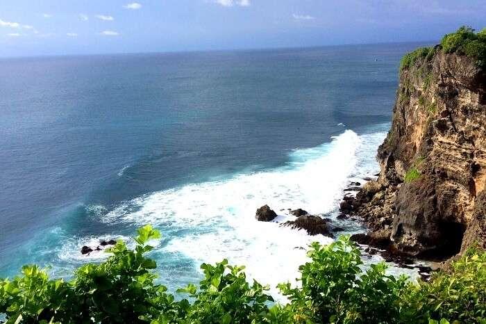 Scenic view off a ridge in Bali