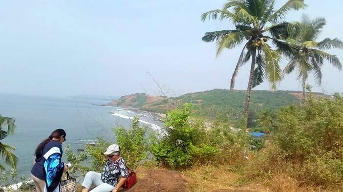 A fantastic view of the coastline in Goa