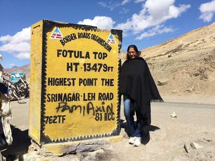 Manish and family at Fotula Top