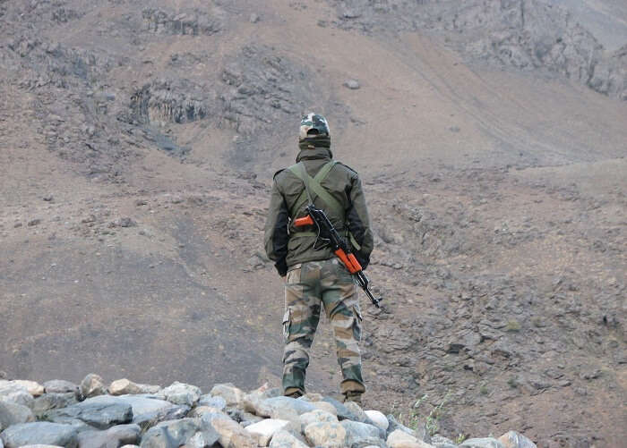 Indian jawan posted in Ladakh