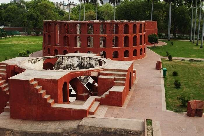 Some of the instruments at the Jantar Mantar observatory in Delhi