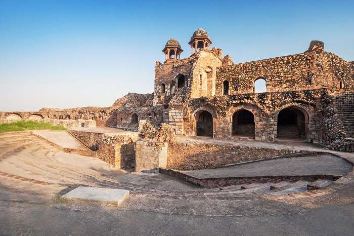 Ruins of the Purana Qila in the town of Shergarh in Delhi