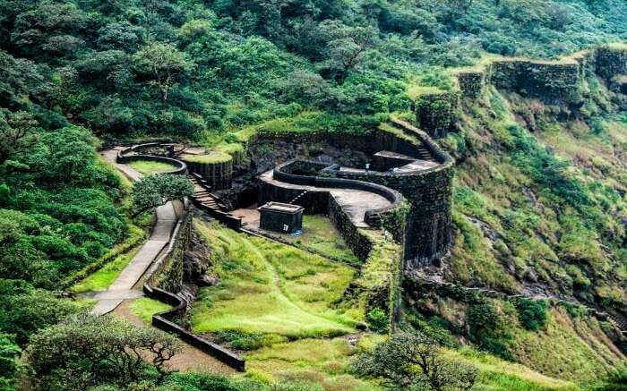 Topview of Raigad Fort