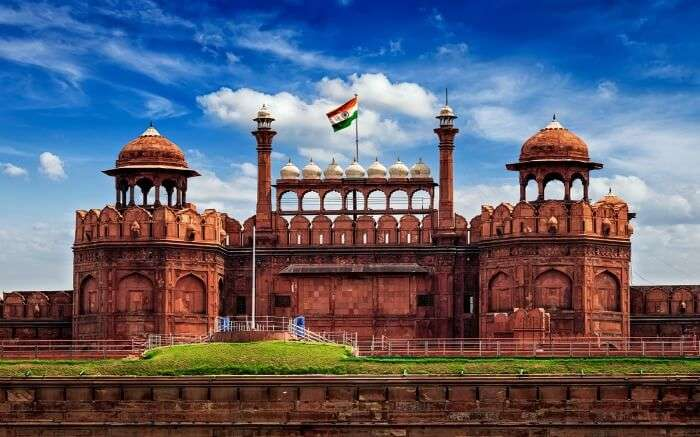 View of Red Fort in Delhi