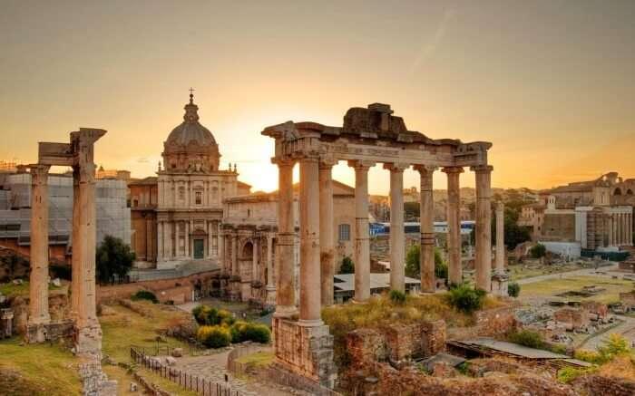 Shot of Roman Forum during the daytime