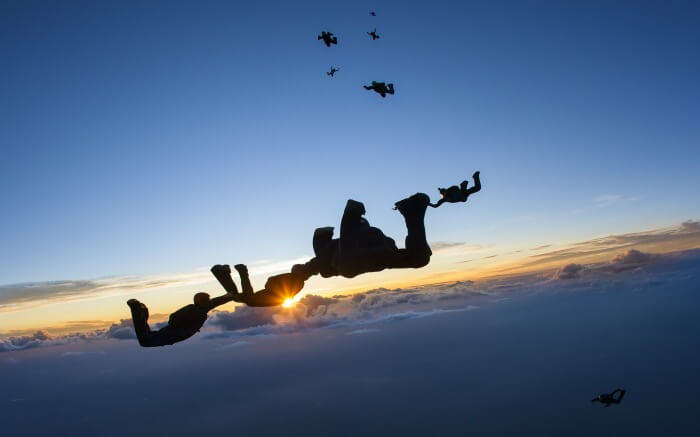 Divers in the sky- skydiving is surely one of the most fun things to do in Australia