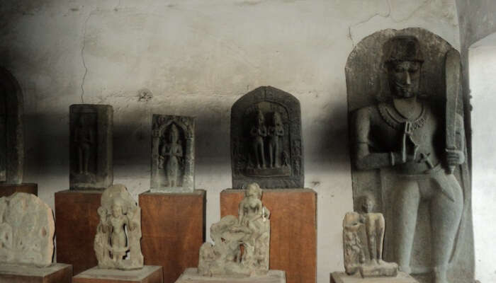 sculptures in a cave
