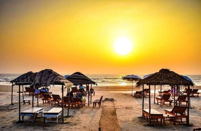 Goa Beach sunset view