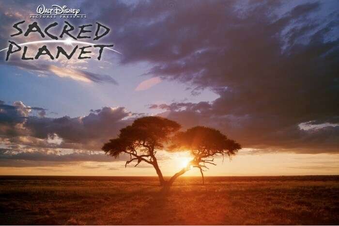 Beautiful sunrise scene in the travel documentary Sacred Planet